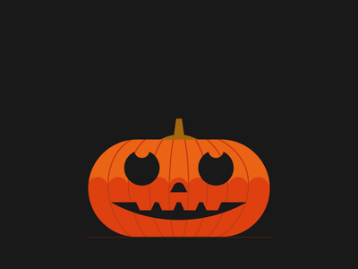 Pumpkin Heads loop animation pumpkin knife jackolantern pumpkin head halloween gif motion design graphic character vector illustration