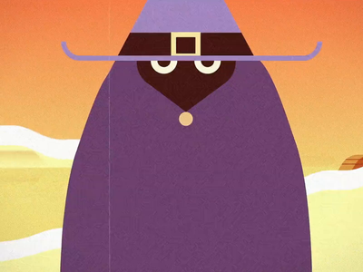 Los Magos sorcerer characterdesign motion design loop gif fly 2d animation dual wizzards animation retro graphic character vector illustration