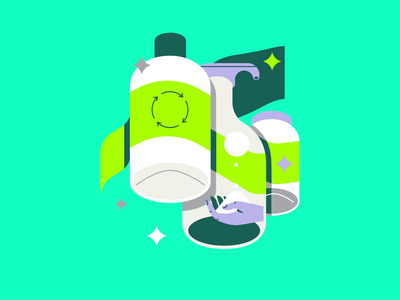 Avery zero-waste flat vectors animation after effects motiondesign loop gif 2danimation plastic recycle animation retro graphic vector illustration