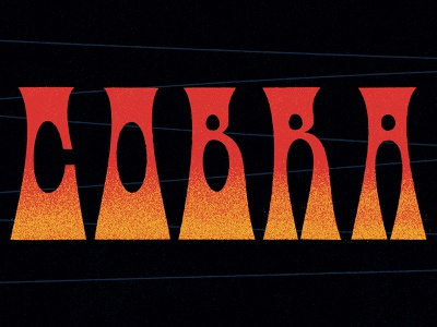 Cobra 🐍 cobra typedesign abstract halftones characterdesign linework lettering typography vector retro graphic character texture illustration