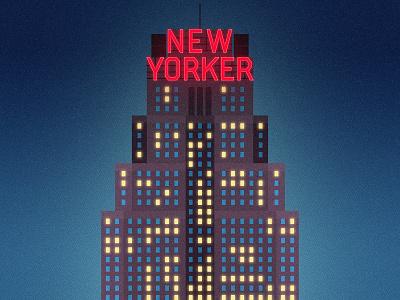 The City That Never Sleeps thebigapple night halftones gradient lighting neon lights city building newyorkhotel hotel new york drawing graphic vector texture illustration