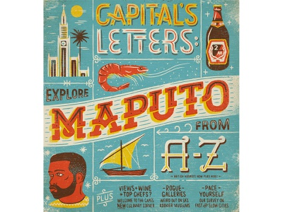 We're 10 Years Old! muti retrospective typography poster south africa maputo local alphabet man characterdesign editorial lettering typography design retro drawing graphic character texture illustration