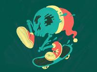 Xmas Skate Skull