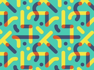 On repeat color pattern illustration vector overlay bright line fabric repeat punchy retro graphic
