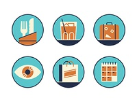 Travel guide icons