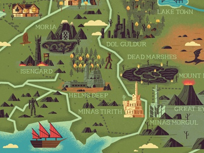 The realms of middle earth by muti dribbble gumiabroncs