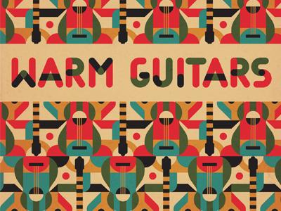 Warm Guitars decorative album music repeat guitar type abstract pattern