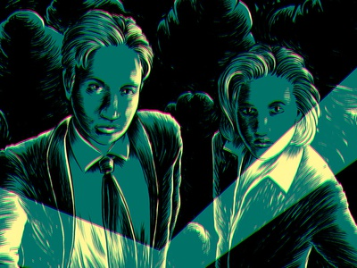 The X-Files paranormal horror science fiction torch poster portrait scully mulder series character tv x-files