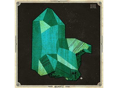 Vintage stone print paper deco retro vintage quartz logo stone icon texture vector illustration