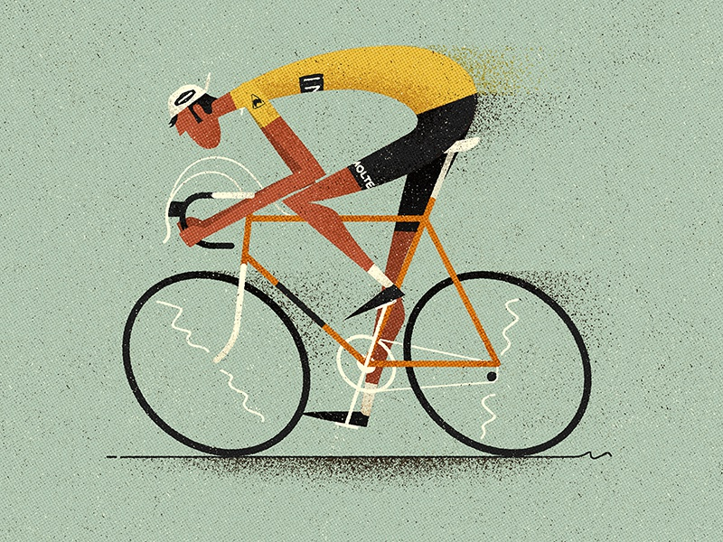 Maillot Jaune texture tour de france speed race sport cycling logo bicycle character flat vector illustration