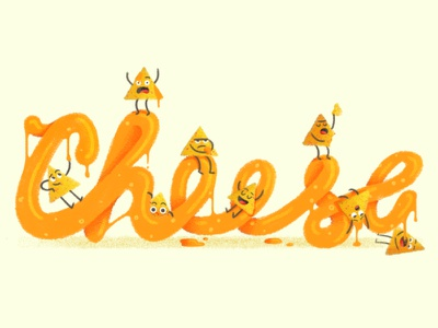 Nacho average cheese Dribbble character typography lettering food drawing retro vintage cheese nachos flat texture illustration