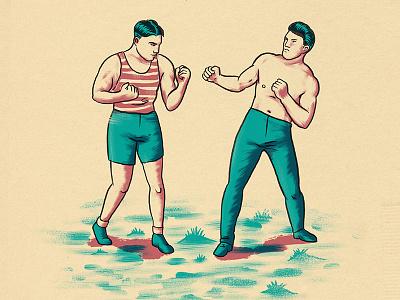 Put 'em up texture man men vintage fists punch box brawl fight
