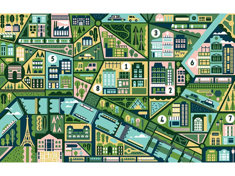 L'Optimum trees building boat river location travel destination city paris maps