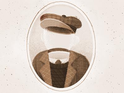Millard, The Invisible Boy! sepia photgraph invisible jacket texture illustration hat boy drawing fantasy character