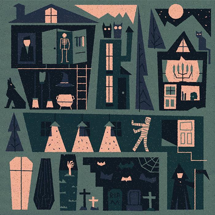 Halloween house 700