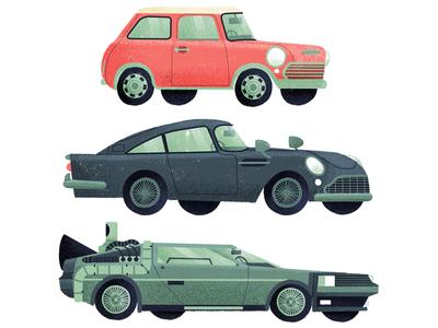 Vintage wheels classic simple drive editorial book flat drawn travel vintage retro car illustration
