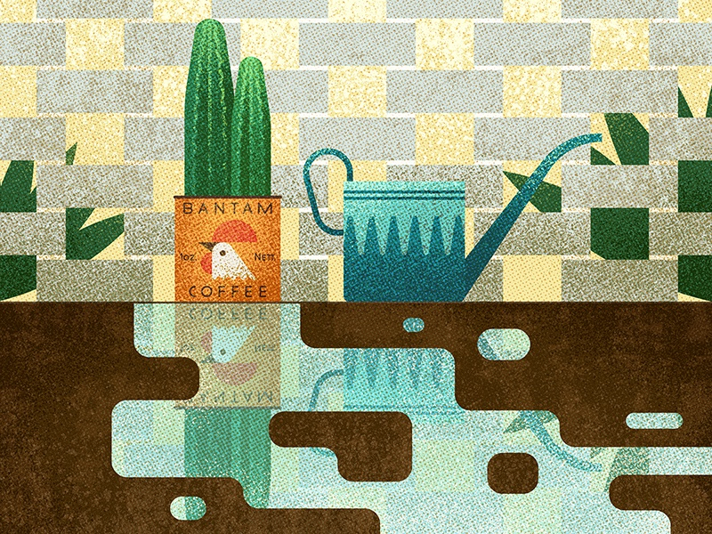 Cactus outdoors icon graphic coffee texture vector reflection water vintage retro plants illustration