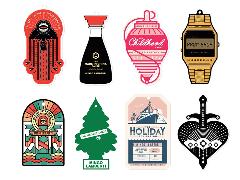 Swinging  icons logo tags sword boat lighthouse tree watch top robot alien