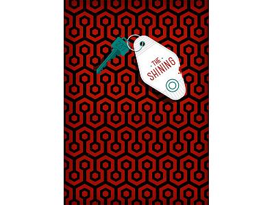 The Shining horror movie movie carpet pattern murder key hotel horror graphic vector illustration