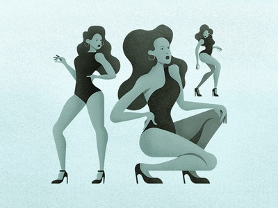 All The Single Ladies stilettoswow legs hair female lady character pose performance dancing