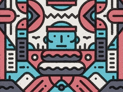Ndebele design graphic simple flat geometric abstract texture african vector pattern character illustration