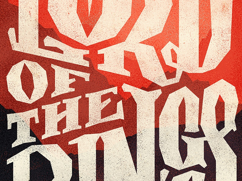 The Lord Of The Rings sauron tolkien book cover lord of the rings lettering typography texture type illustration
