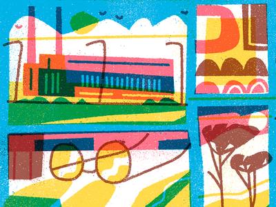 Nobrow 10 design graphic simple flat editorial texture art abstract vector dream print illustration