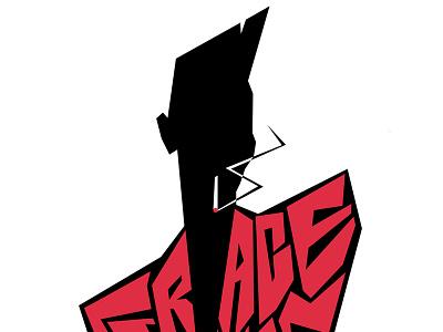 Grace Jones icon cigarette print t-shirt grace jones lettering graphic character vector typography portrait illustration