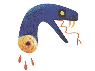 Mamba texture vintage retro flat design graphic icon color tattoo snake vector illustration