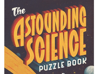 The Astounding Science Puzzle Book station space start astronaut planet moon vintage retro type puzzle science