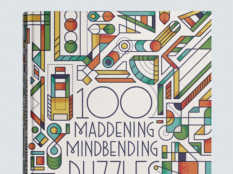 Mindbending line texture type pattern abstract graphic puzzle art cover book
