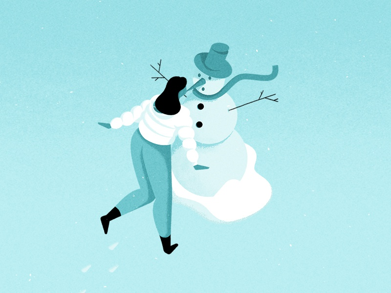 Winter snowman snow vector texture simple illustration graphic flat design character abstract