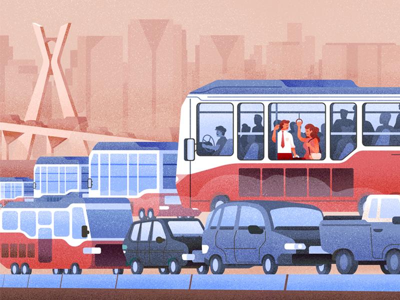 Traffic congestion texture city traffic transport bus vehicle car