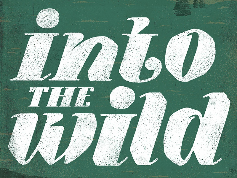 Into the Wild design graphic typography lettering editorial texture art abstract vector book print illustration