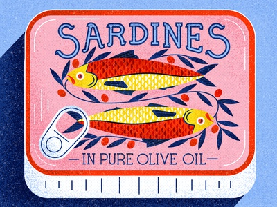 Sardines design leaves olive shadow cant sardines fish texture vector illustration