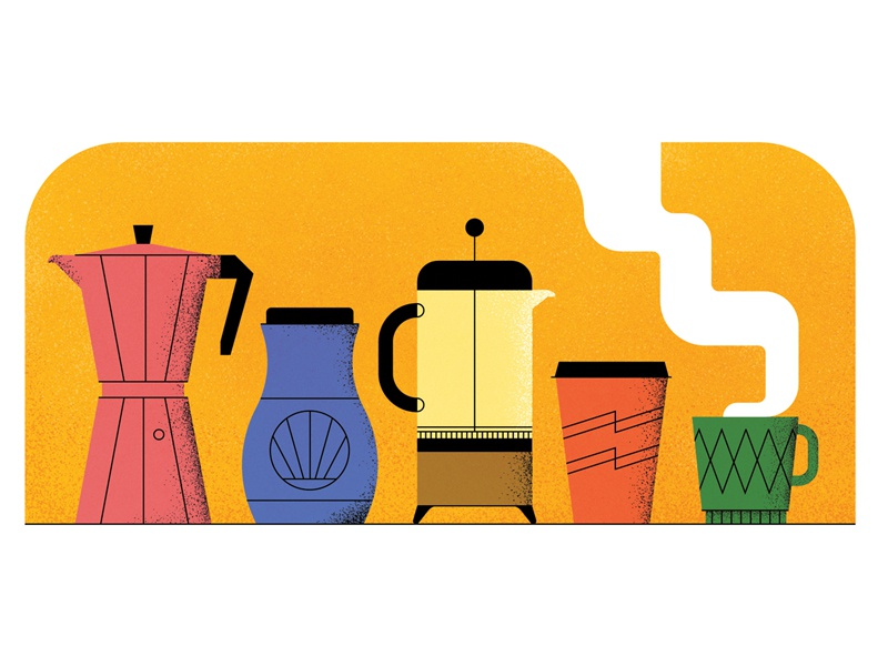 Cuppa steam illustration texture vector cup mug filter coffee