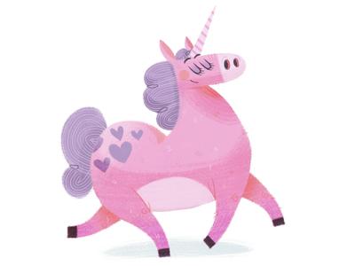 A Fabulous Unicorn creature fantasy characterdesign unicorn drawing character texture illustration