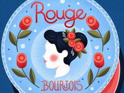 Rouge lettering vector typography vintage graphic character texture illustration