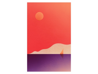 Sunset sun texture vector cloud cruise boat yacht sunset