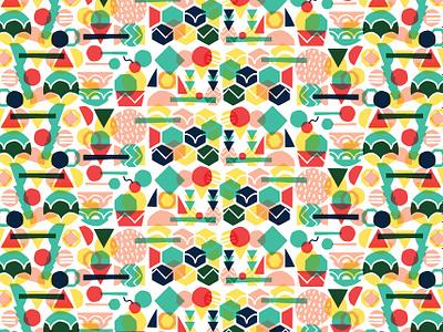 Unframed ice cream wallpaper vector pattern logo branding design flat graphic illustration