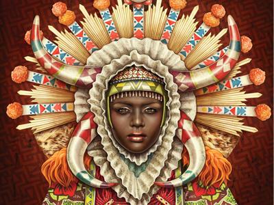 African Madonna beauty african tribal zulu