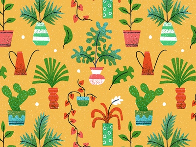 Plants drawing pattern icon design editorial vintage retro flat graphic vector texture illustration