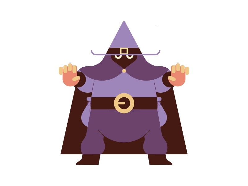 Wizard characterdesign animation wizard vector design flat character illustration