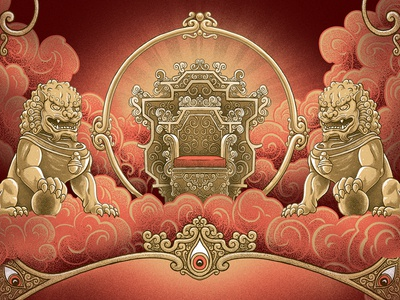 The Iron Will of Genie Lo type border decoration chinese culture illustration character book