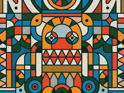 One of our illustrations for the 2019 Monster Project creature drawing monster vector pattern design retro graphic character texture illustration