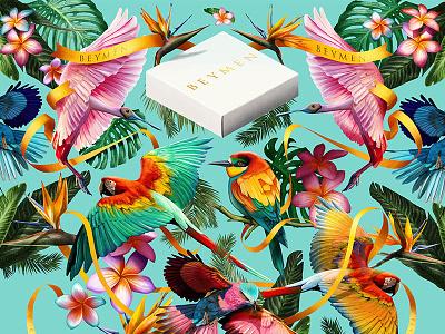 All Things Tropical photoshop muti birds beymen digitalpainting tropical illustration