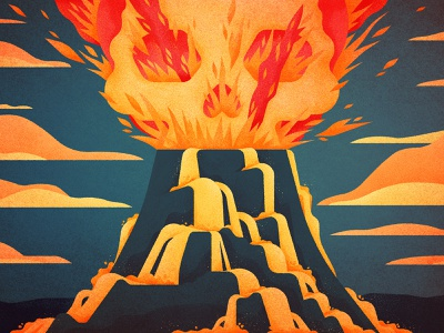 Flaming Skull eruption fire volcano fortnite gaming drawing graphic character texture illustration