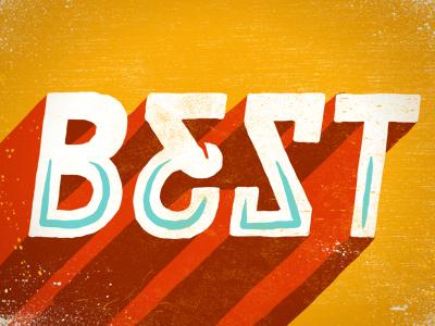 Best hand drawn typography texture