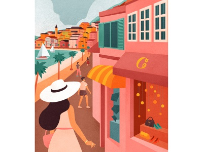 Ready to Explore? travelguides landscapes city travel luxury shopping design editorial drawing graphic character vector texture illustration