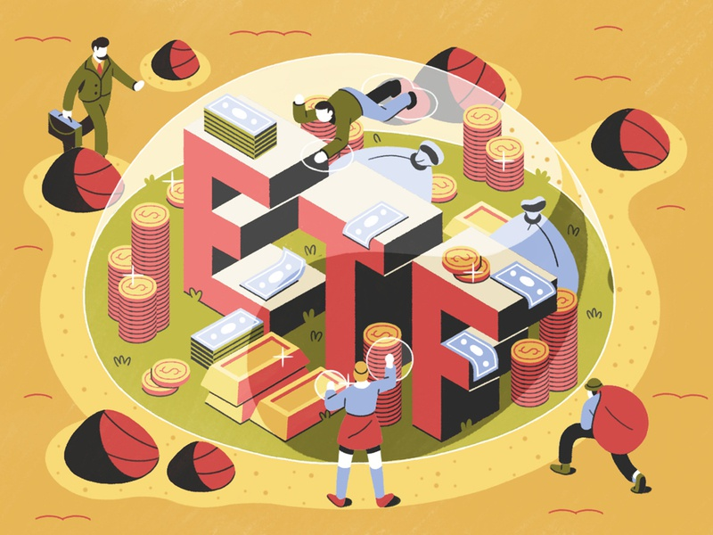 Barrons stock exchange trade investments money perspective digital painting characterdesign isometric typography editorial drawing graphic character vector texture illustration